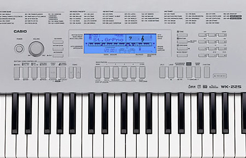 casio wk 225 76 key portable keyboard reverb. Black Bedroom Furniture Sets. Home Design Ideas