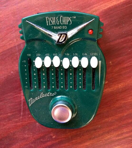 danelectro dj15 fish n 39 chips 7 band equalizer 2000 forest green reverb. Black Bedroom Furniture Sets. Home Design Ideas