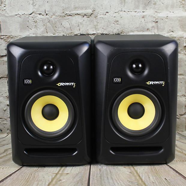 krk rokit 5 rp5 g3 powered studio monitors pair reverb. Black Bedroom Furniture Sets. Home Design Ideas