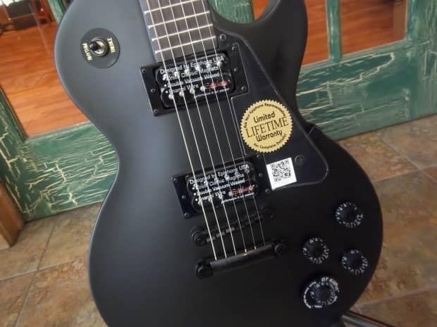 epiphone gothic goth les paul studio solid body guitar satin reverb. Black Bedroom Furniture Sets. Home Design Ideas