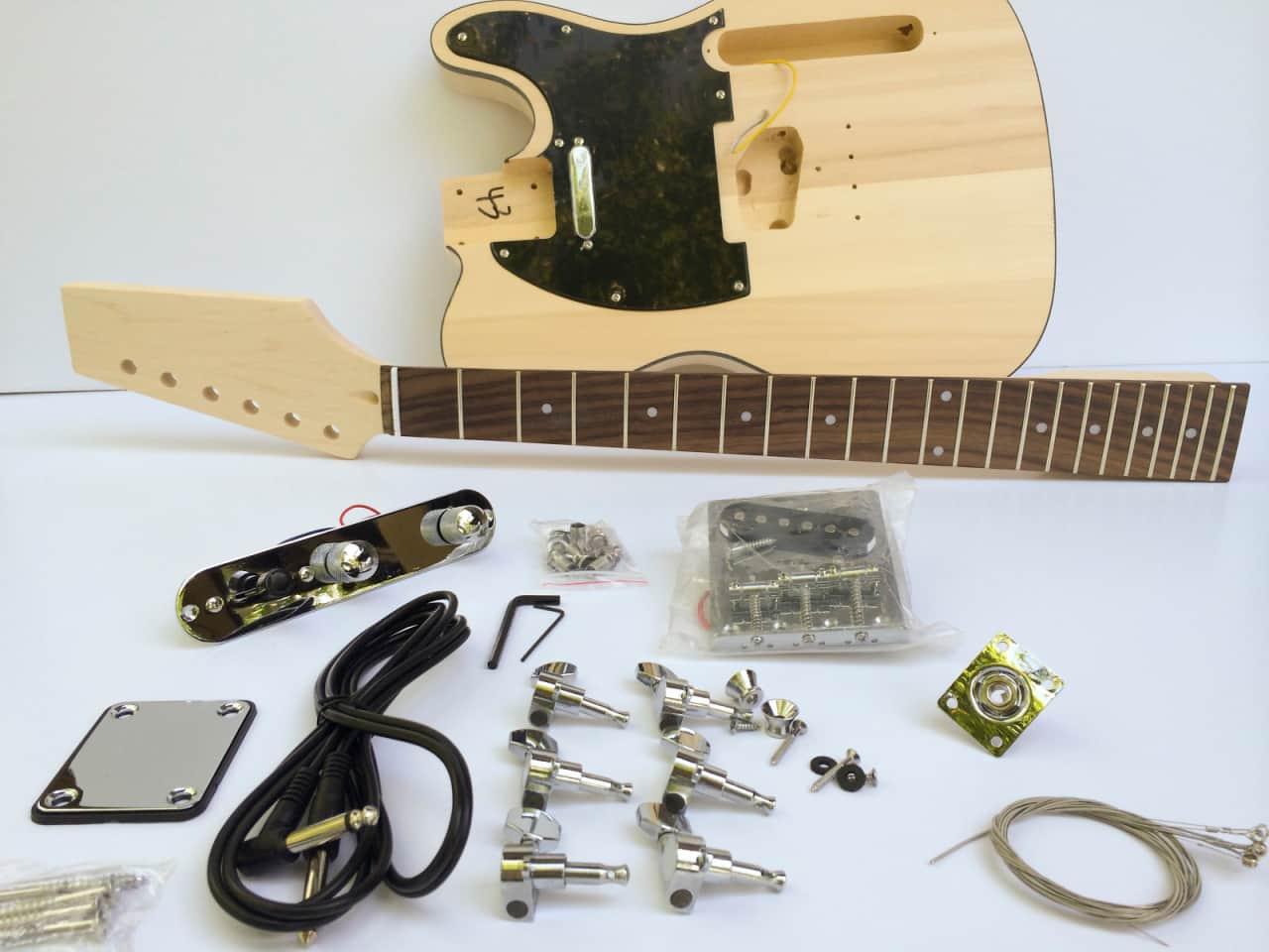 do it yourself diy electric guitar kit build your own tele reverb. Black Bedroom Furniture Sets. Home Design Ideas