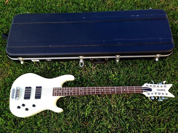 hamer 12 string electric bass guitar white reverb. Black Bedroom Furniture Sets. Home Design Ideas