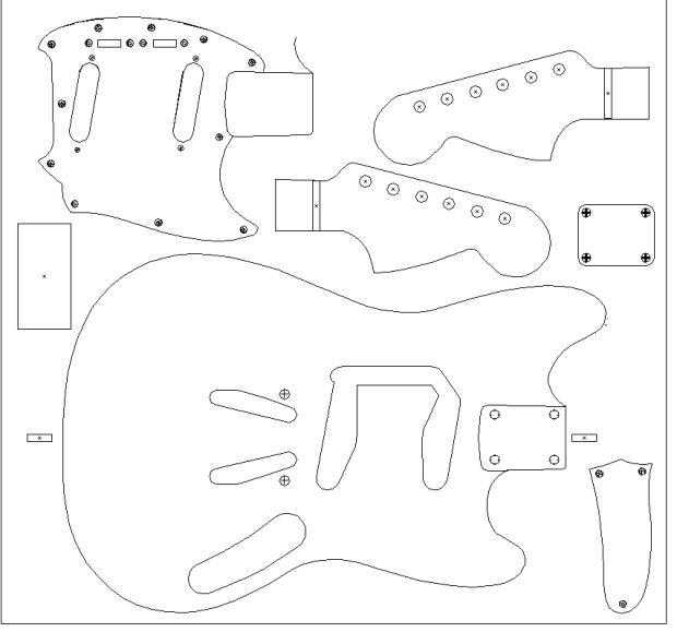 fender  u0026 39 64 mustang routing template  vinyl guitar making