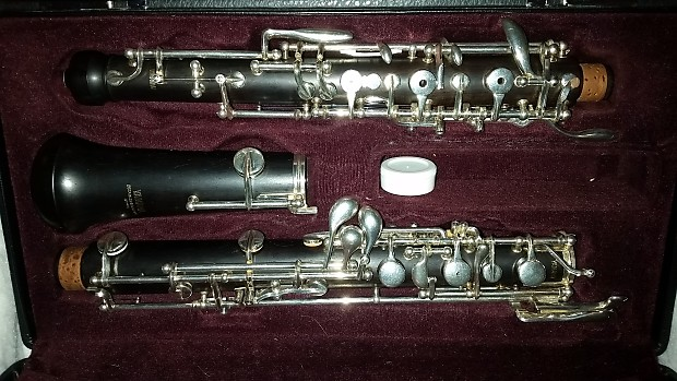 yamaha 411 intermediate all grenadilla oboe with left f