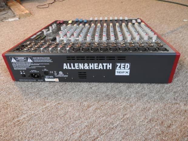 allen and heath zed 16fx reverb