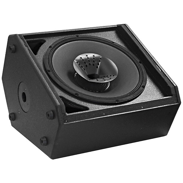 Powered compact 15 inch 2 way coaxial floor stage for 15 inch floor speakers