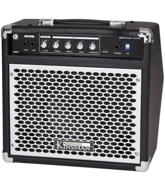 kinsman kb25 25 watts bass guitar practice amplifier reverb. Black Bedroom Furniture Sets. Home Design Ideas