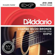 Daddario 13 56 Medium Coated 80/20 Bronze Acoustic Strings image