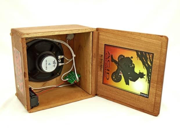 Cigar Box Amp In Cool Acid Box Reverb