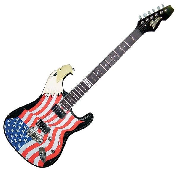 italia freebird united states of american flag eagle 6 string reverb. Black Bedroom Furniture Sets. Home Design Ideas