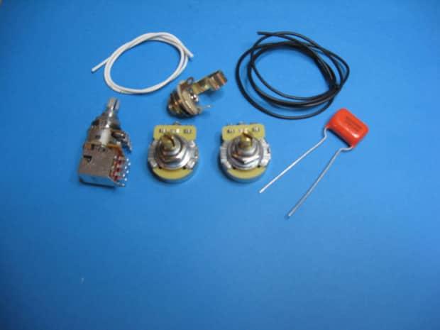 am guitar works jazz j bass wiring kit with series