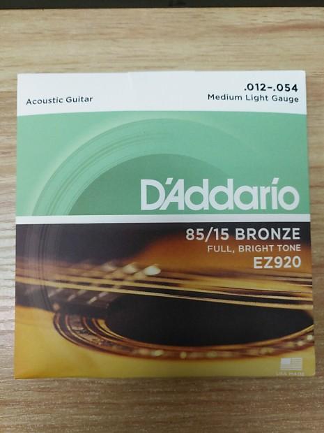 d 39 addario ez920 85 15 bronze light acoustic guitar strings reverb. Black Bedroom Furniture Sets. Home Design Ideas