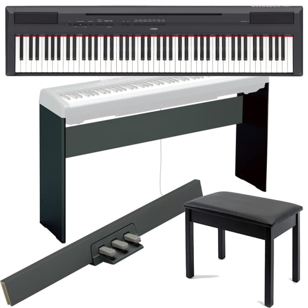 Yamaha P115 88 Key Digital Piano W 3 Pedal Stand Bench Cover Reverb