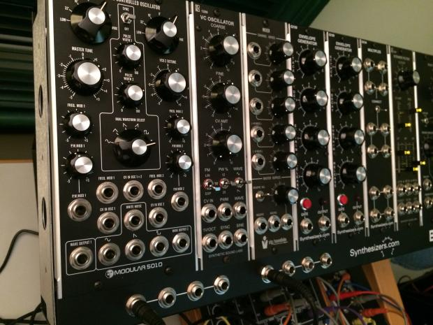 mu custom analog modular synthesizer 2015 black reverb. Black Bedroom Furniture Sets. Home Design Ideas