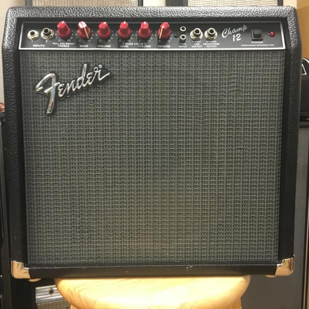 1989 Fender Champ 12 Red Knob Tube Amp Reverb