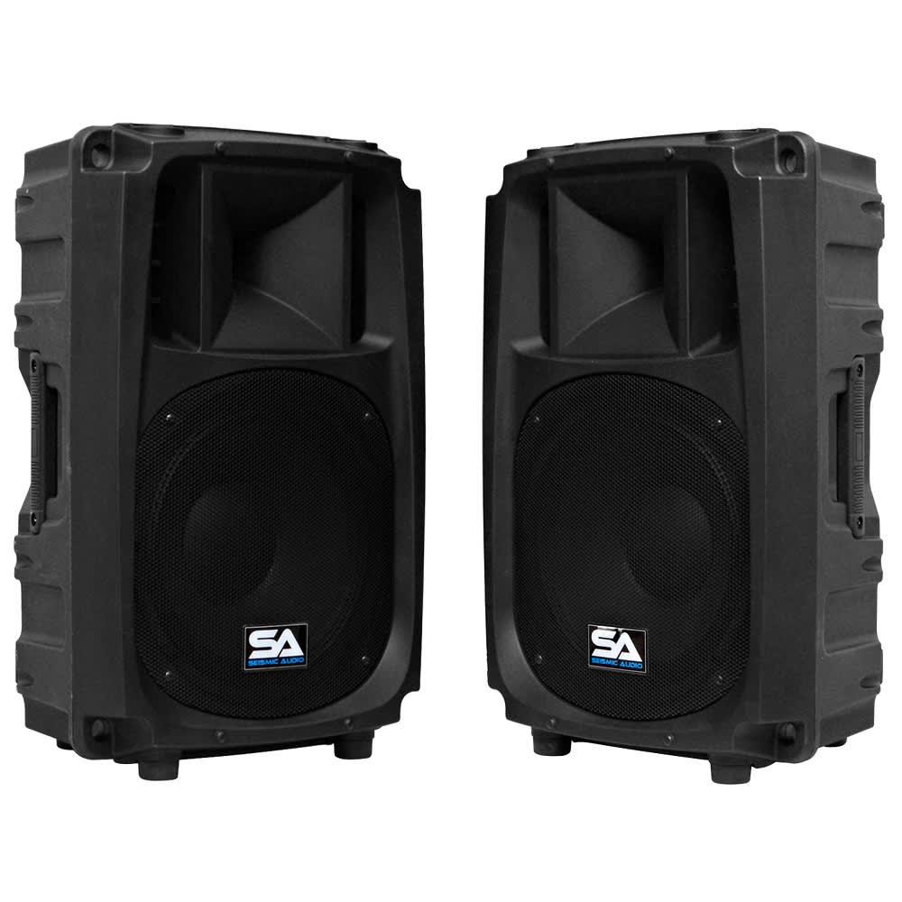 seismic audio pair of passive 12 inch 2 way pa speaker reverb. Black Bedroom Furniture Sets. Home Design Ideas