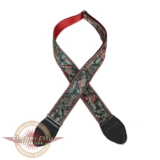 """Brand New Souldier """"Koi"""" Japanese Style 2"""" Guitar Strap with Black Ends image"""