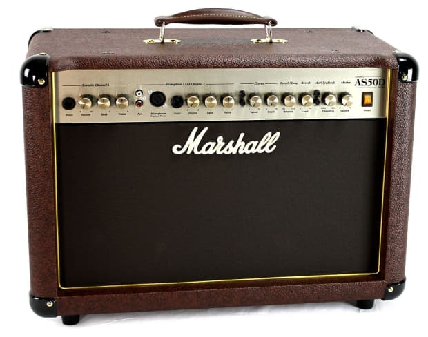 marshall as50d acoustic soloist amplifier p a acoustic reverb. Black Bedroom Furniture Sets. Home Design Ideas