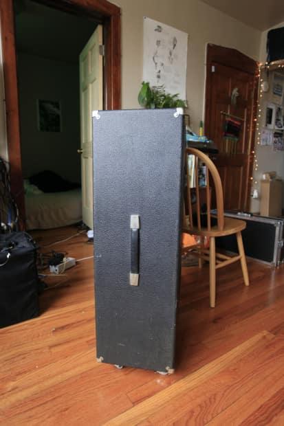 Acoustic 2x15 Guitar Bass Cab 1970 Black Speaker Cabinet