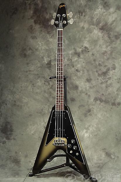 gibson usa 1981 flying v bass silver burst reverb. Black Bedroom Furniture Sets. Home Design Ideas