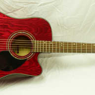 <p>Samick D4CE TR Acoustic/Electric Guitar Beautiful Trans Red Finish w/included Accessories</p>  for sale