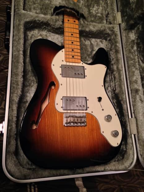 Fender Fsr 72 Thinline Telecaster 2011 Sunburst Reverb