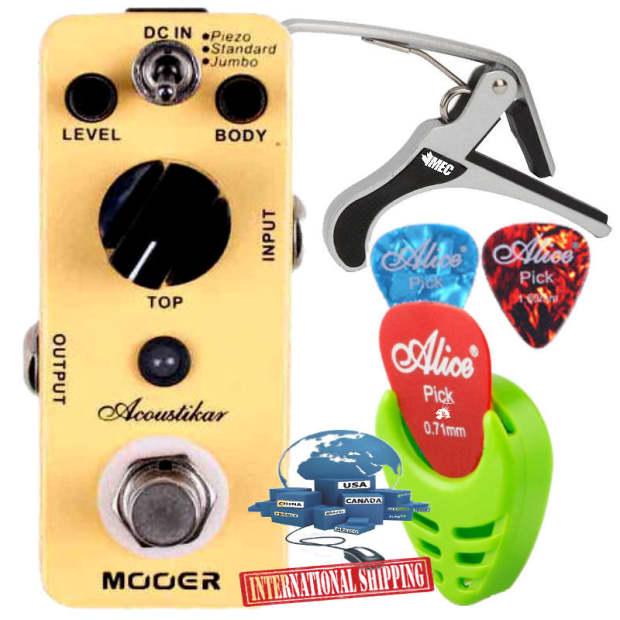 mooer acoustikar micro acoustic guitar simulator effect pedal reverb. Black Bedroom Furniture Sets. Home Design Ideas