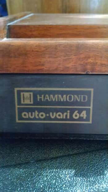 hammond auto vari 64 drum machine reverb. Black Bedroom Furniture Sets. Home Design Ideas