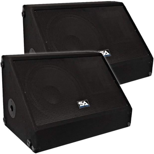 Pair 12 floor stage monitors speakers new 500 watts for 12 floor speaker