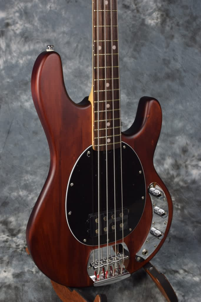 sterling sub ray4 4 string bass guitar by music man walnut reverb. Black Bedroom Furniture Sets. Home Design Ideas