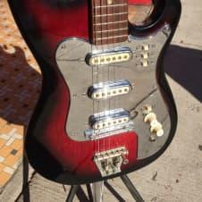 Teisco 3 Pick Up Guitar 3 Pick-up 1960's Redburst image