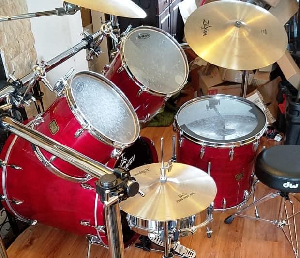 Gretsch usa custom complete drum kit set zildjian cymbols for 18x18 floor tom