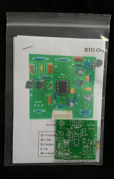 Rto R  Trower Overdrive Distortion Pcb Layout Diy Full Kit