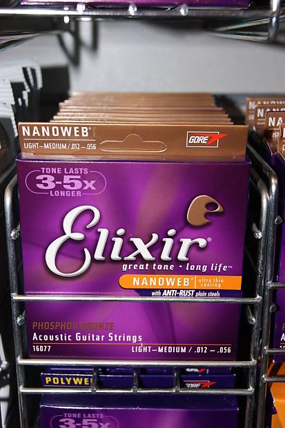 elixir nanoweb coated 16077 12 56 phosphor bronze acoustic reverb. Black Bedroom Furniture Sets. Home Design Ideas