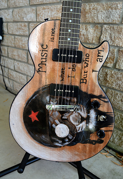 custom art epiphone les paul special i p90 electric guitar reverb. Black Bedroom Furniture Sets. Home Design Ideas