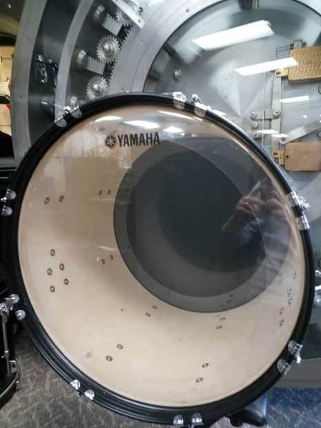 yamaha pulse 22 kick drum brand new heads reverb