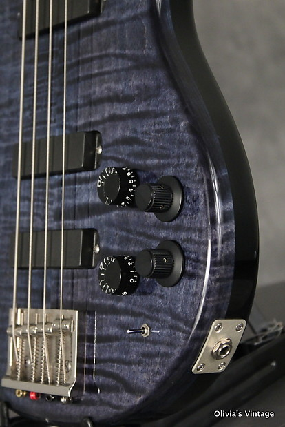 Paul Reed Smith Curly USD -String Bass 1991 Whale Blue Reverb