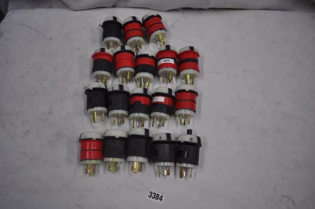 hubbell hbl2611 twist lock male plug 30a 125v  lot of 9