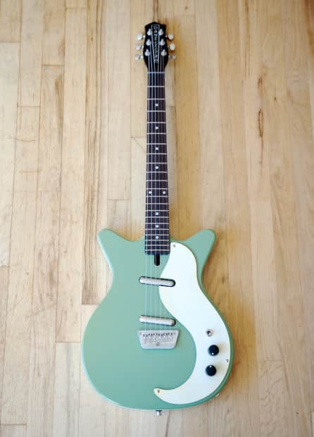 Danelectro '59 DC Pro Shorthorn Electric Guitar Lime Green ...