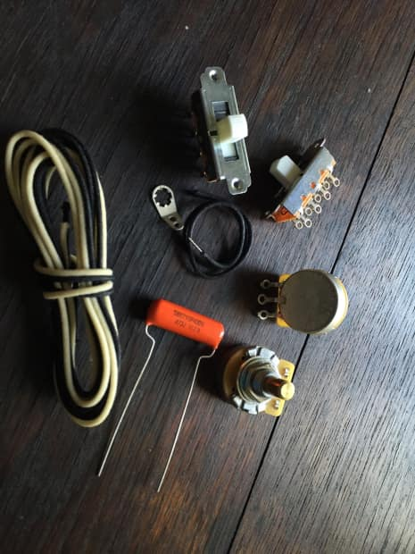 fender style mustang duo sonic wiring kit reverb. Black Bedroom Furniture Sets. Home Design Ideas