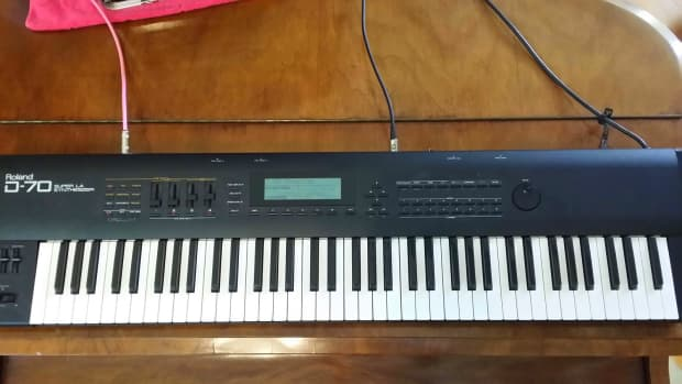 Roland D 70 Synthesizer 76 Key Near Mint Condition Reverb