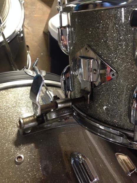 Hoshino Crown 4 Piece Silver Sparkle Mij Vintage Drum Kit