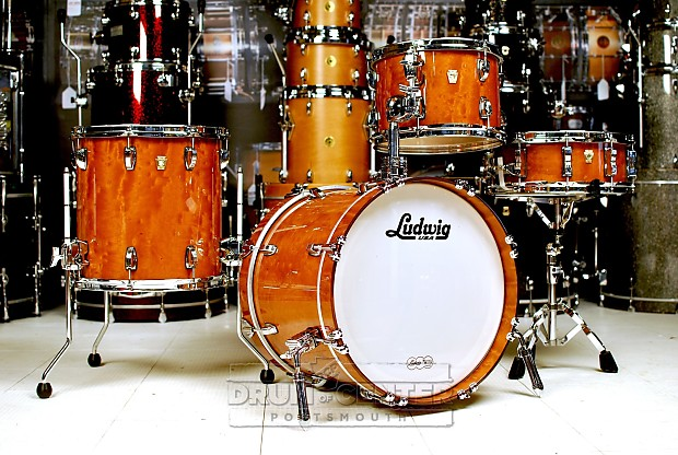 ludwig classic maple 4pc jazz drum set quilted makore reverb. Black Bedroom Furniture Sets. Home Design Ideas