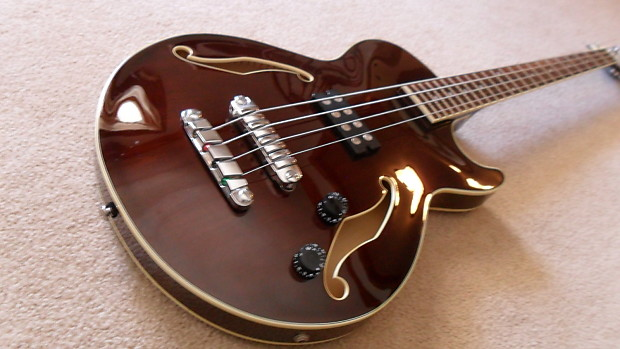 ibanez agb140 artcore transparent brown hollowbody bass reverb. Black Bedroom Furniture Sets. Home Design Ideas