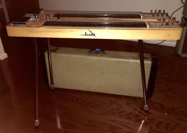 alamo double neck 8 string steel guitar 50 39 s reverb. Black Bedroom Furniture Sets. Home Design Ideas