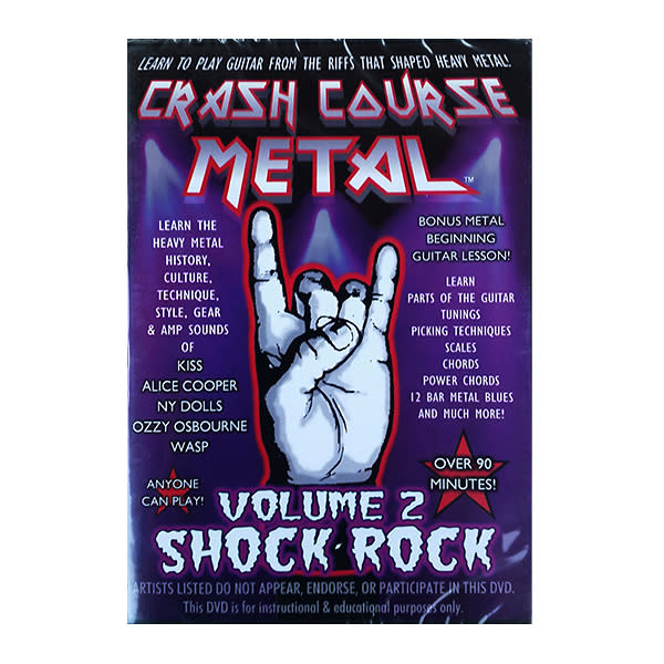 Crash Course Metal Volume 2 Shock Rock DVD