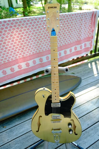 gronlund single cutaway 2016 brass top with porter pickups