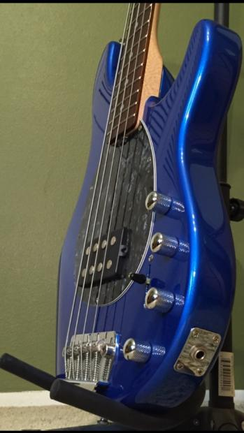Active Auto Sales >> Sterling By Musicman SB14, 4 string bass, Metallic Blue   Reverb
