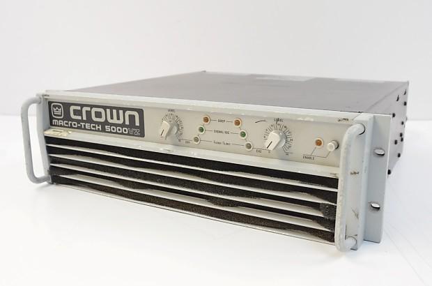 Crown Power Amplifier Vs 5000 : crown macro tech 5000vz power amplifier 5000 watt 0 1 1khz reverb ~ Hamham.info Haus und Dekorationen