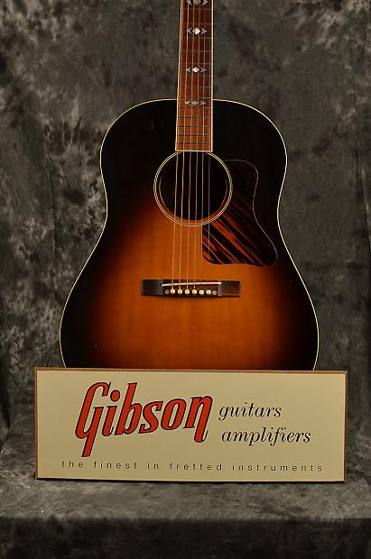 gibson 1950s vintage style guitar stand display sign reverb. Black Bedroom Furniture Sets. Home Design Ideas